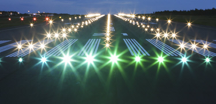 Future Of Airfield Lighting Guiding Aircraft One Led Light At A Time Adb Safegate Blog